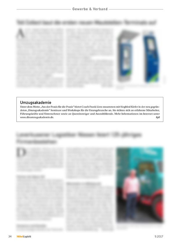 MöbelLogistik, Ausgabe 09/2017